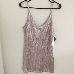 Amuse Society metallic mini dress